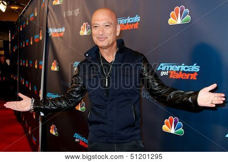 "NEW YORK-SEP 11: Judge and comedian Howie Mandel attends the pre-show red carpet for NBC's ""America's Got Talent"" Season 8 at Radio City Music Hall on September 11, 2013 in New York City."