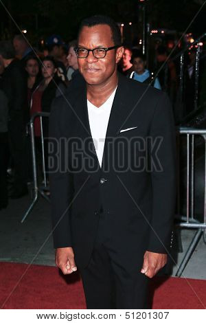 NEW YORK-SEP 18: Writer Geoffrey Fletcher attends the Ferrari & The Cinema Society screening of 'Rush' at Chelsea Clearview Cinema on September 18, 2013 in New York City.