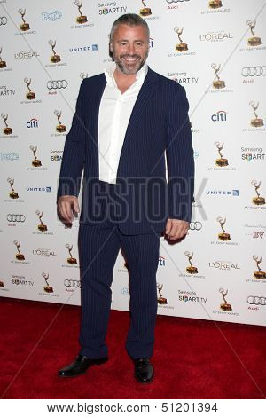 LOS ANGELES - SEP 20:  Matt LeBlanc at the Emmys Performers Nominee Reception at  Pacific Design Center on September 20, 2013 in West Hollywood, CA