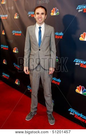 NEW YORK-SEP 11: Comedian Taylor Williamson attends the pre-show red carpet for NBC's