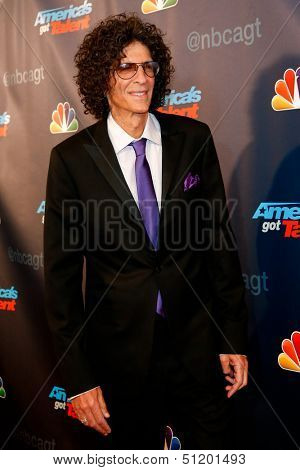 "NEW YORK-SEP 11: Judge and radio host Howard Stern attends the pre-show red carpet for NBC's ""America's Got Talent"" Season 8 at Radio City Music Hall on September 11, 2013 in New York City."