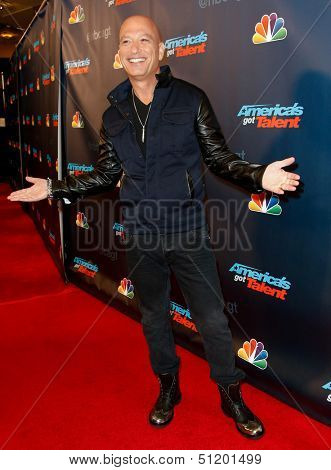 "NEW YORK-SEP 17: Judge and comedian Howie Mandel attends the pre-show red carpet for NBC's ""America's Got Talent"" Season 8 at Radio City Music Hall on September 17, 2013 in New York City."