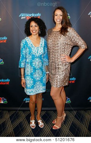 """NEW YORK-AUG 28: Members of the American Military Spouses Choir attend the post-show red carpet for NBC's """"America's Got Talent"""" Season 8 at Radio City Music Hall on August 28, 2013 in New York City."""