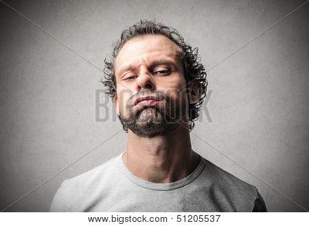 portrait of a bored man