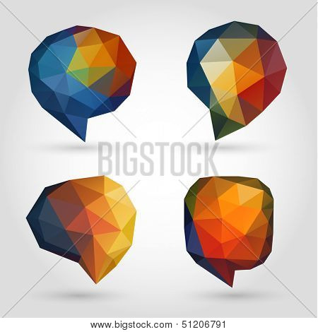 Abstract speech bubbles collection - raster version