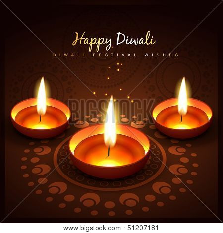 diwali festival vector design background