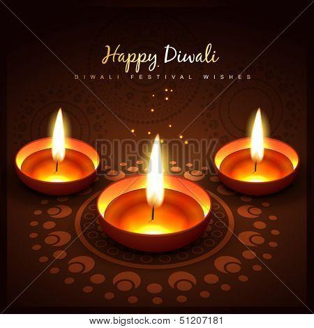 diwali festival vector design background