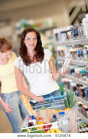 Shopping Series - Brown Hair Woman With Cart