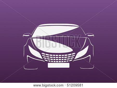 Auto in purple