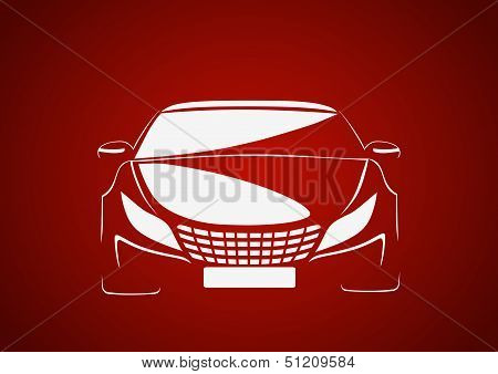 Auto in red