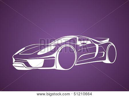 White super auto over purple
