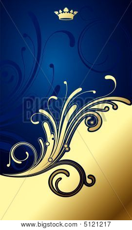 Gold-blue Classic Background
