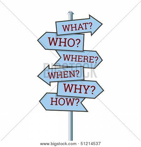 Question Arrow Sign