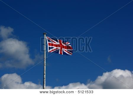 Union Flag And Copyspace In Sky