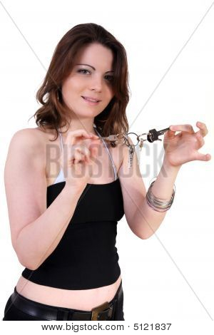 Girl With Keys