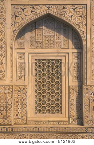 Ornate Mogul Tomb, Agra
