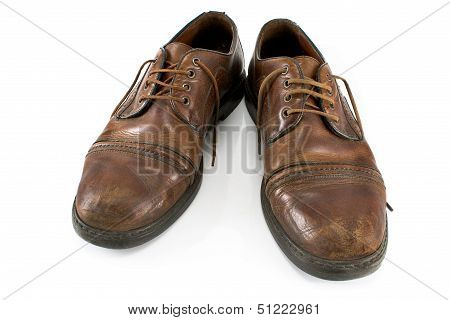 Old Classical Shoes Isolated