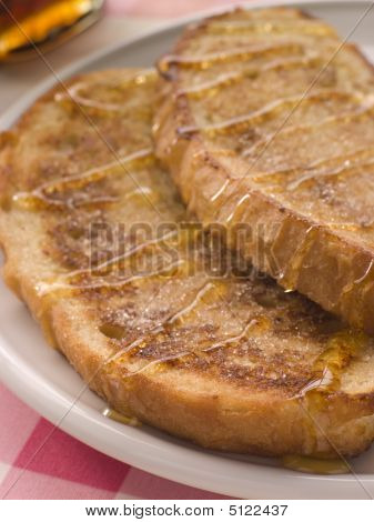 French Cinnamon Toast With Syrup
