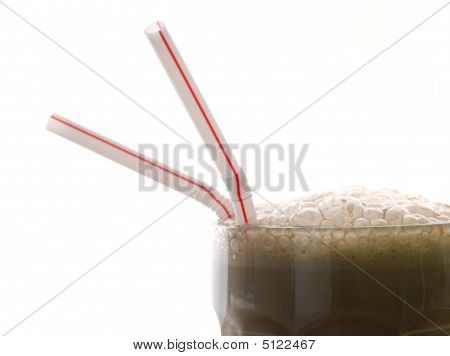 Chocolate Milkshake With Straws