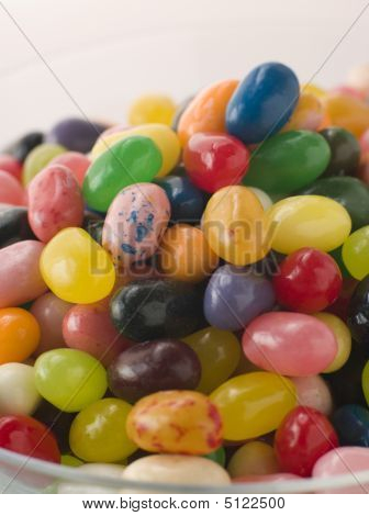 Bowl Of Coloured Jellybeans