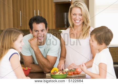 Family Preparing Meal, Mealtime Together