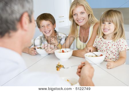 Family Eating A Meal, Mealtime Together