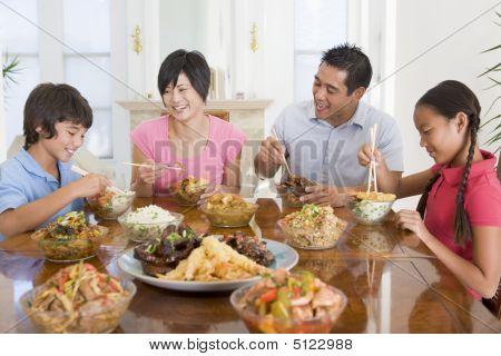 Family Enjoying Meal, Mealtime Together