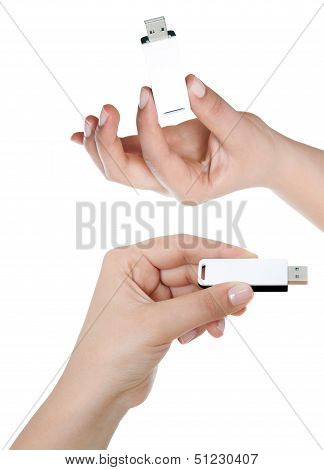 Hand Holding Usb Key Storage