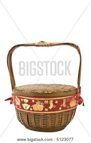Vintage Oriental Basket