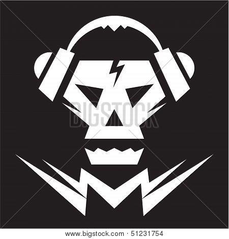 Skull Music Sign