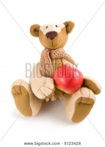 Teddy Bear With Apple