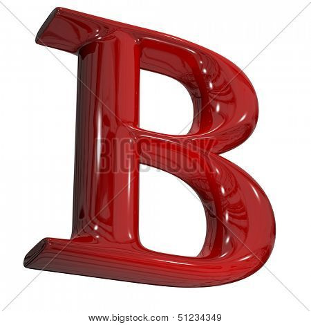 3d shiny red letter collection - B