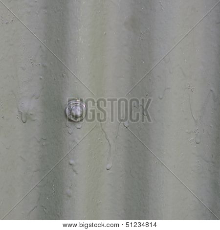 Metallic Texture With Paint And A Screw