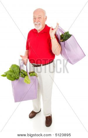 Senior Man Goes Green
