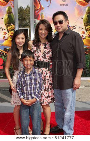 LOS ANGELES - SEP 21:  Michaela Zee, Cooper Dominic Zee, Ming-Na Wen, Eric Michael Zee at the