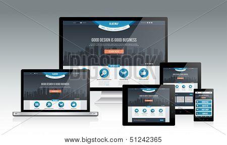 Reaktionsschnelle Website Mockup