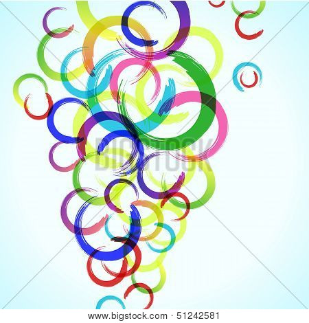 Abstract Colorful Background With Circles For Your Design, Eps10