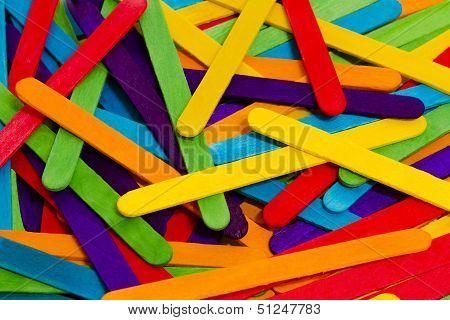 Popsicle Sticks Scattered