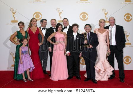 LOS ANGELES - SEP 22:  Modern Family Cast at the 65th Emmy Awards - Press Room at Nokia Theater on September 22, 2013 in Los Angeles, CA