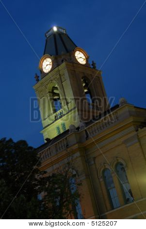 Springfield Tennessee Court House Nightscape Clock Tower