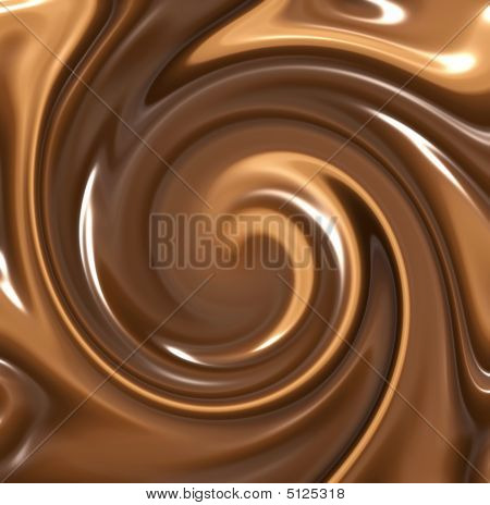 Melted Chocolate Swirl