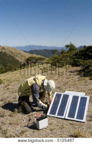 Small Solar Energy In Outdoors