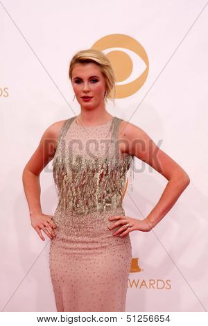 LOS ANGELES - SEP 22:  Ireland Baldwin at the 65th Emmy Awards - Arrivals at Nokia Theater on September 22, 2013 in Los Angeles, CA