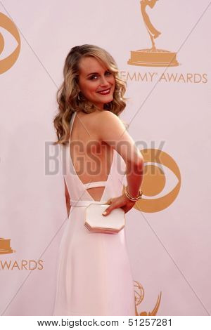 LOS ANGELES - SEP 22:  Taylor Schilling at the  at Nokia Theater on September 22, 2013 in Los Angeles, CA