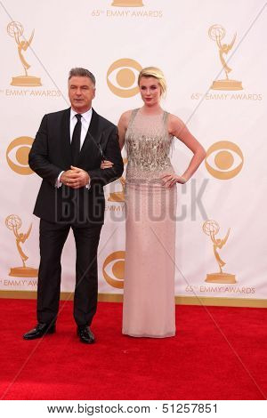 LOS ANGELES - SEP 22:  Alec Baldwin, Ireland Baldwin at the 65th Emmy Awards - Arrivals at Nokia Theater on September 22, 2013 in Los Angeles, CA