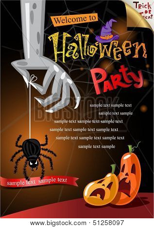 Halloween Poster. Vector illustration.
