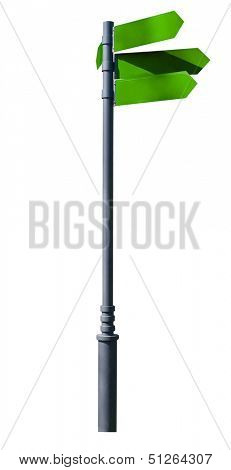 guidepost. Isolated over white background. indexes, signpost
