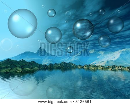 Bubbles In Mountains