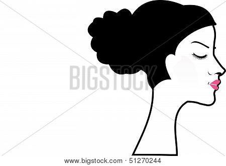 woman with a bun