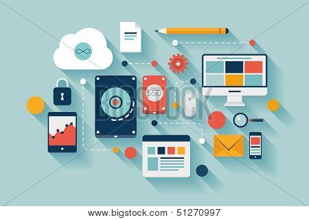 Data Storage Concept Illustration
